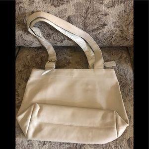 Gently worn Coach ecru snap front purse straps